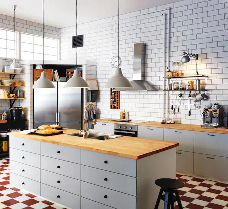 Modelli cucine VEDDINGE grigio opaco.