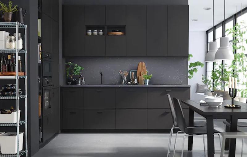 Le cucine IKEA KUNGSBACKA antracite.