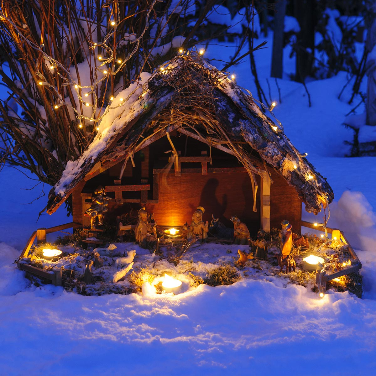 Presepe di Natale da esterno.