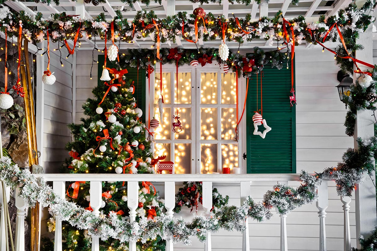 Decorazioni natalizie da esterno.