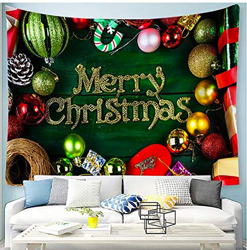 Telo natalizio Merry Christmas da parete.