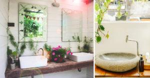 idee per arredare il bagno in stile naturale