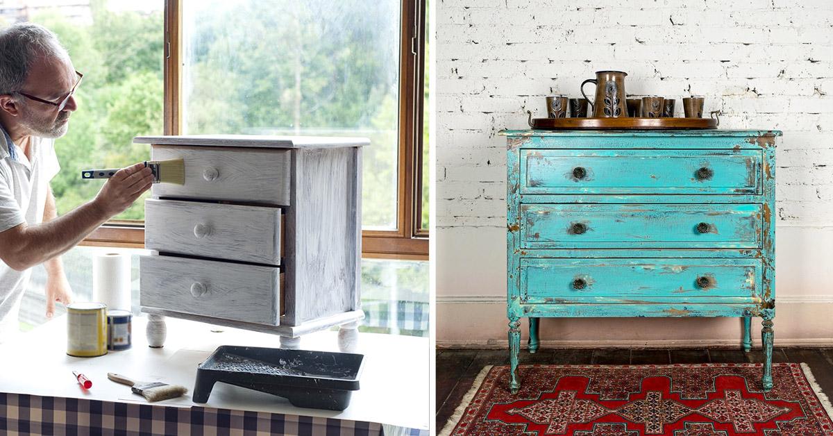 come dipingere mobili vecchi fai da te