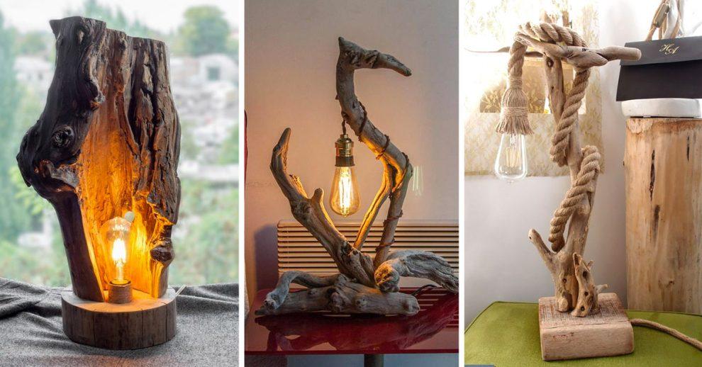 Ispirazioni per realizzare lampade fai da te con il riciclo creativo.