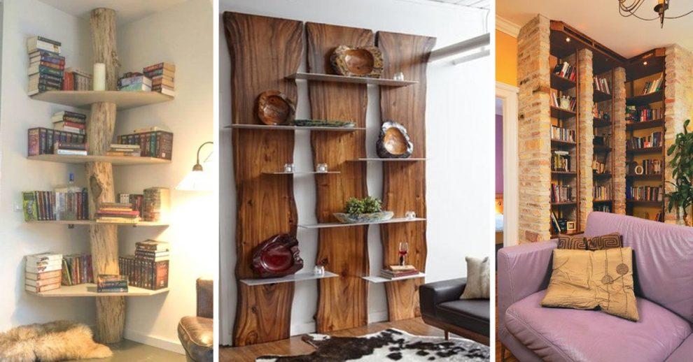 libreria stile rustico in casa