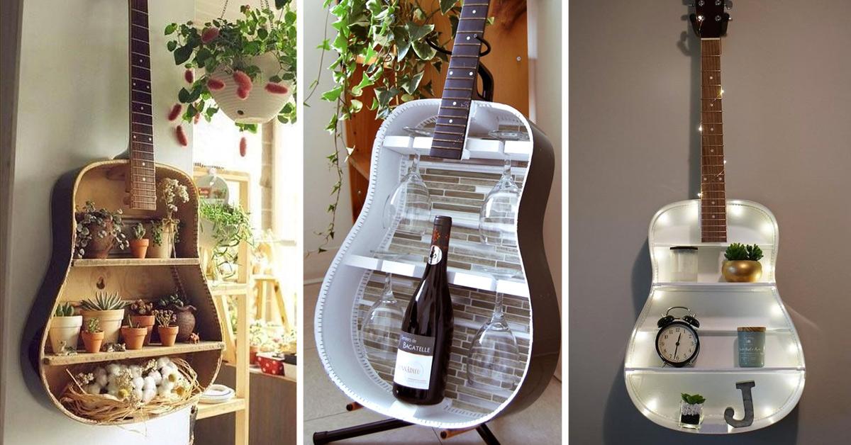 idee creative per riciclare una vecchia chitarra
