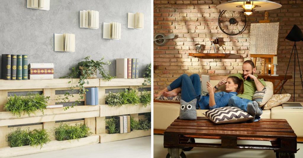 idee per arredare casa con i bancali