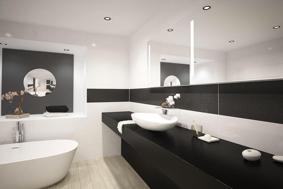 Idee Bagno Moderno Piccolo bagno nero: 40 ispirazioni per un bagno di design