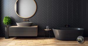 idee per arredare un bagno nero