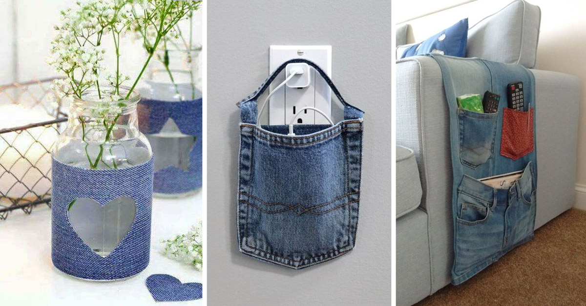 idee per riciclare i jeans.