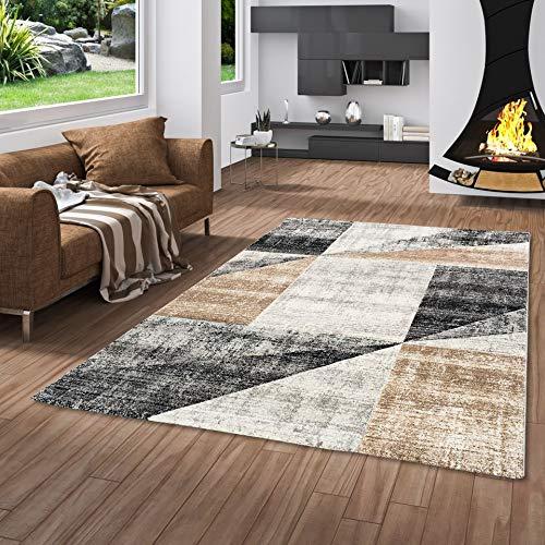 Soggiorno moderno con tappeto e camino.