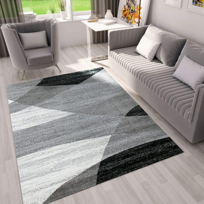 Soggiorno con tappeto moderno.