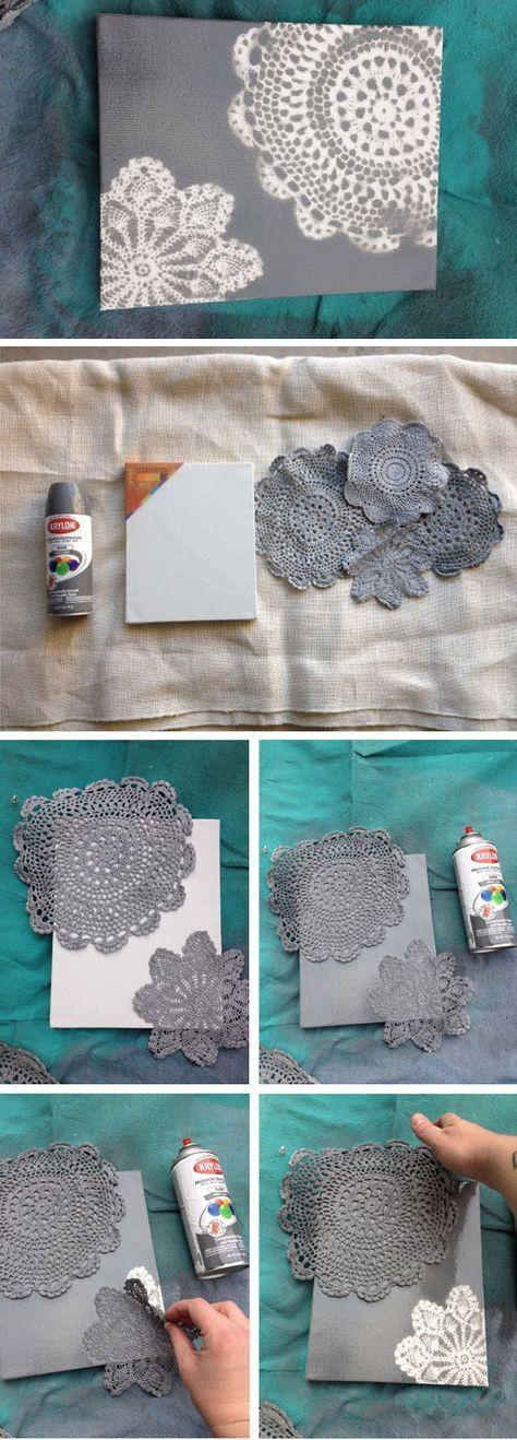riciclo creativo merletto