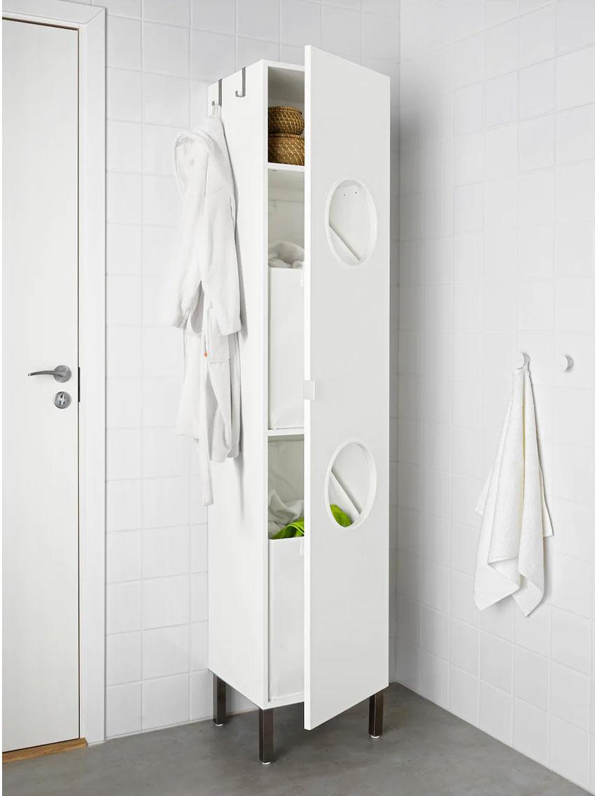 Armadietto salvaspazio IKEA, ideale per un bagno piccolo