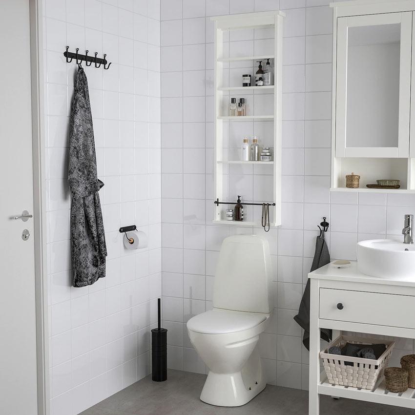 Bagno piccolo con IKEA.