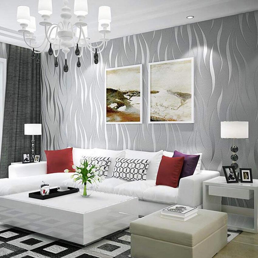 carta da parati 3d crea un effetto ottico, ideale in una casa moderna.