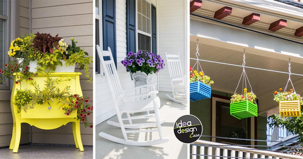 Come decorare il portico di casa per la primavera