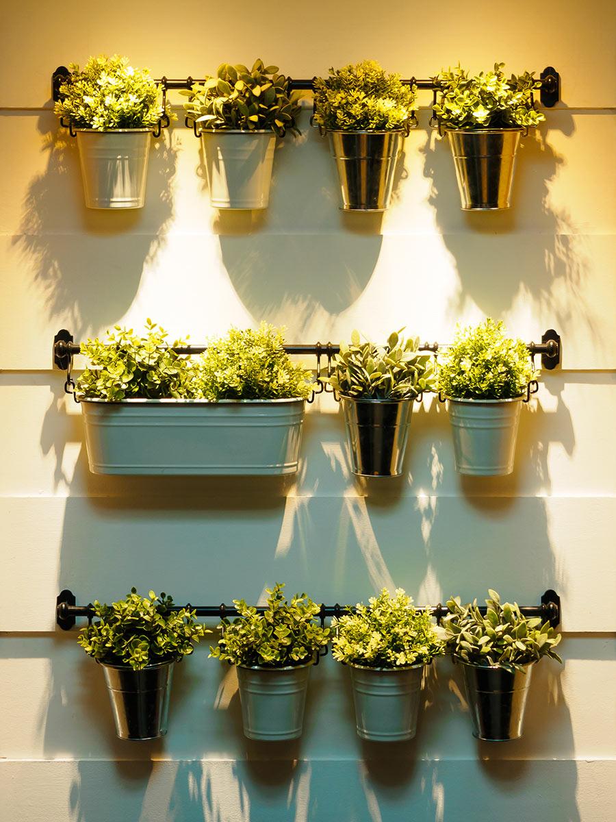 Giardini Verticali Fai Da Te giardino verticale: 20 idee per una parete verde in casa