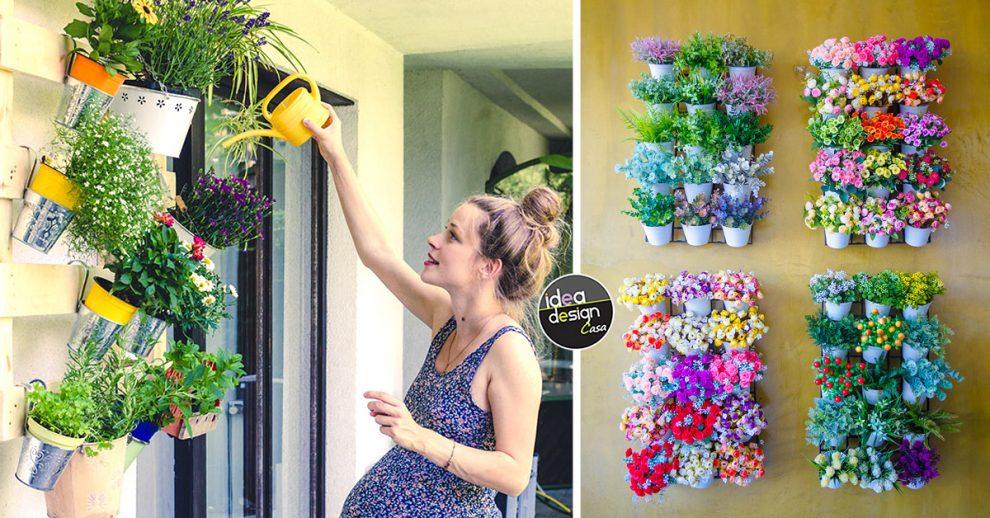 Idee per creare un giardino verticale o una parete verde in casa.