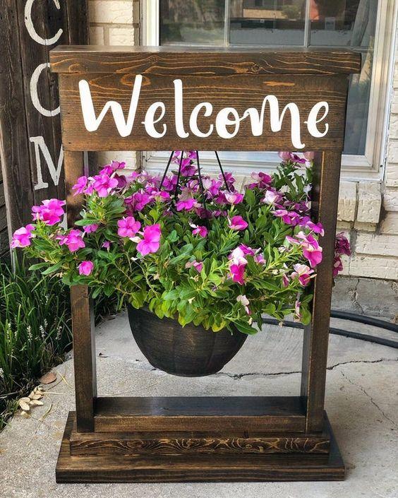 Insegna welcome primavera