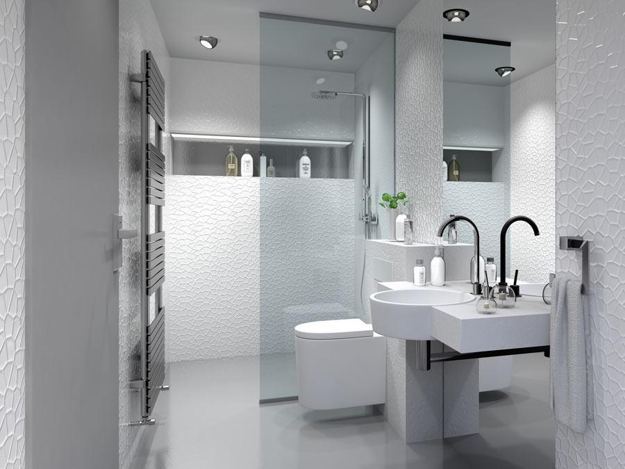 Piccolo bagno ristrutturato in stile moderno