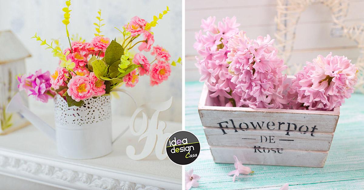 vaso di fiori shabby chic composizioni floreali