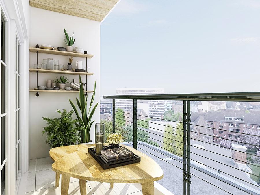 Arredare un balcone lungo e stretto con stile.