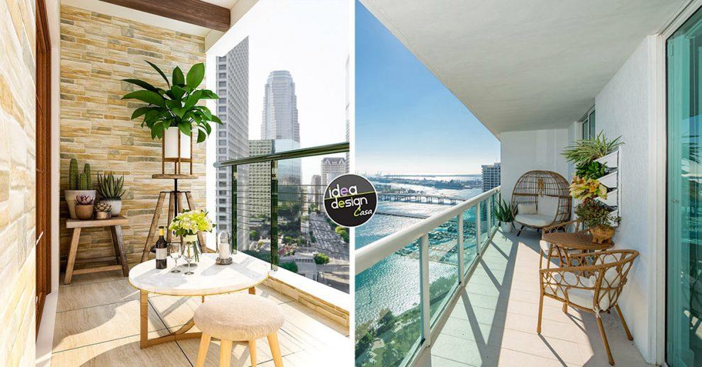 idee per arredare il balcone.