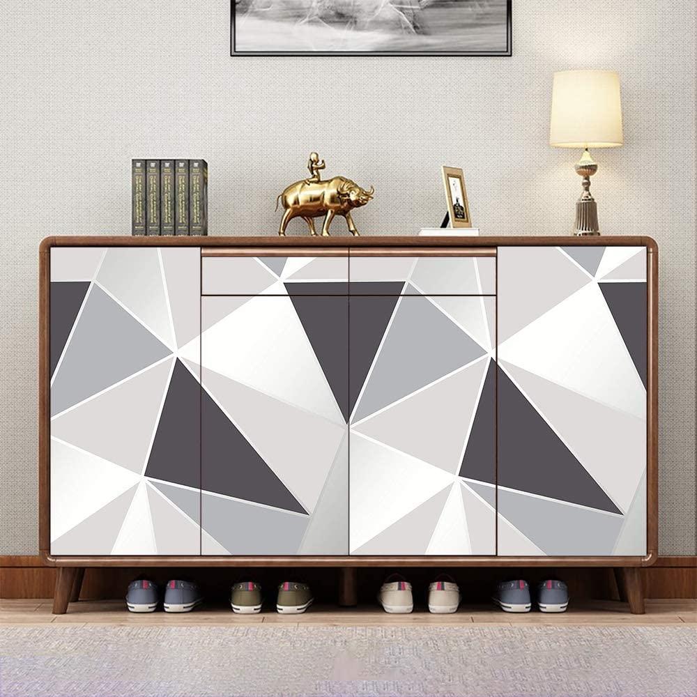 Consolle soggiorno decorata fai da te con carta adesiva moderna.