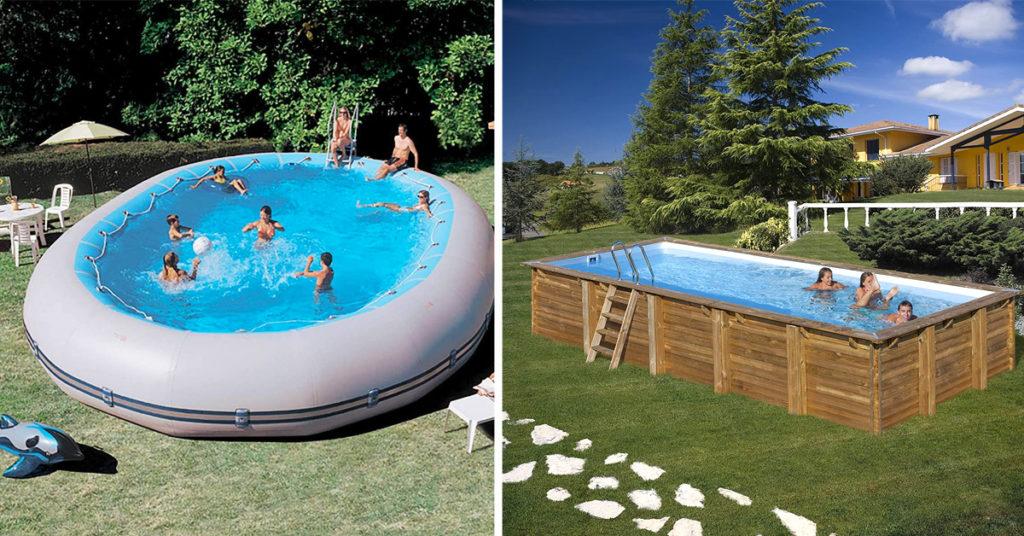 Idee di piscine fuori terra da giardino.