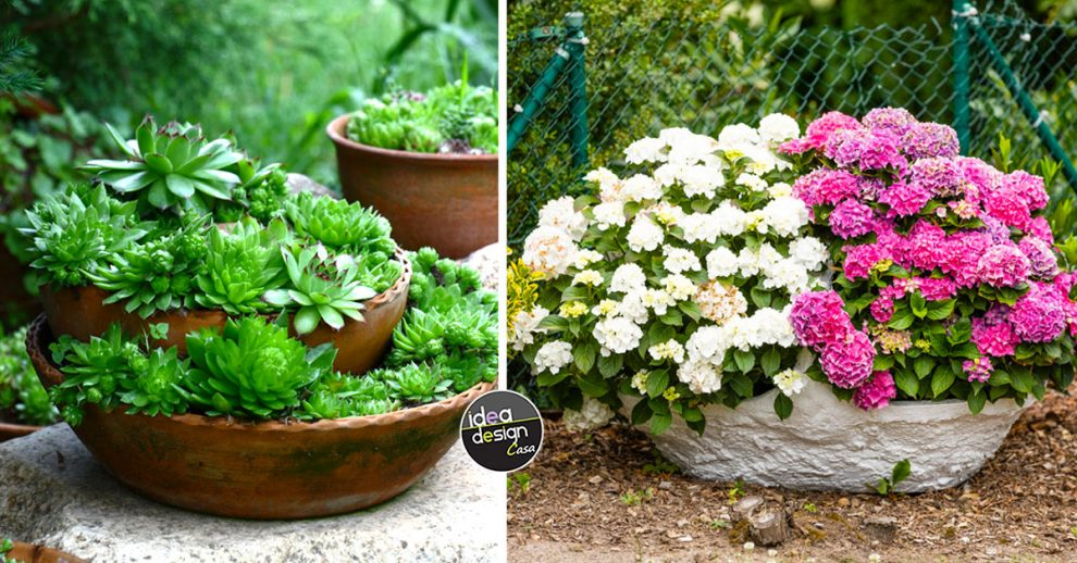 idee per realizzare un bel vaso particolare in giardino.