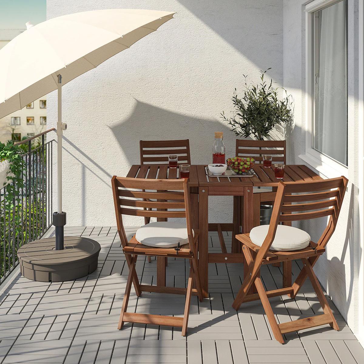 Tavolino Per Balcone Ikea balcone tavolo pieghevole ikea con sedie