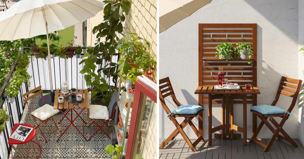 arredare un balcone piccolo con IKEA