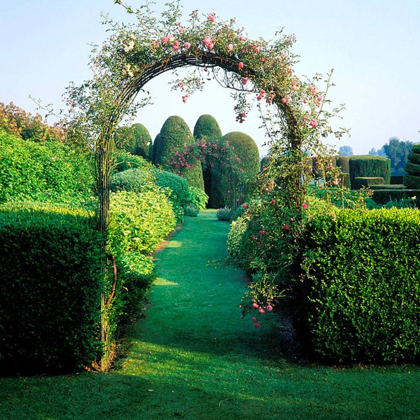 Arco da giardino in legno ideale per rampicanti.