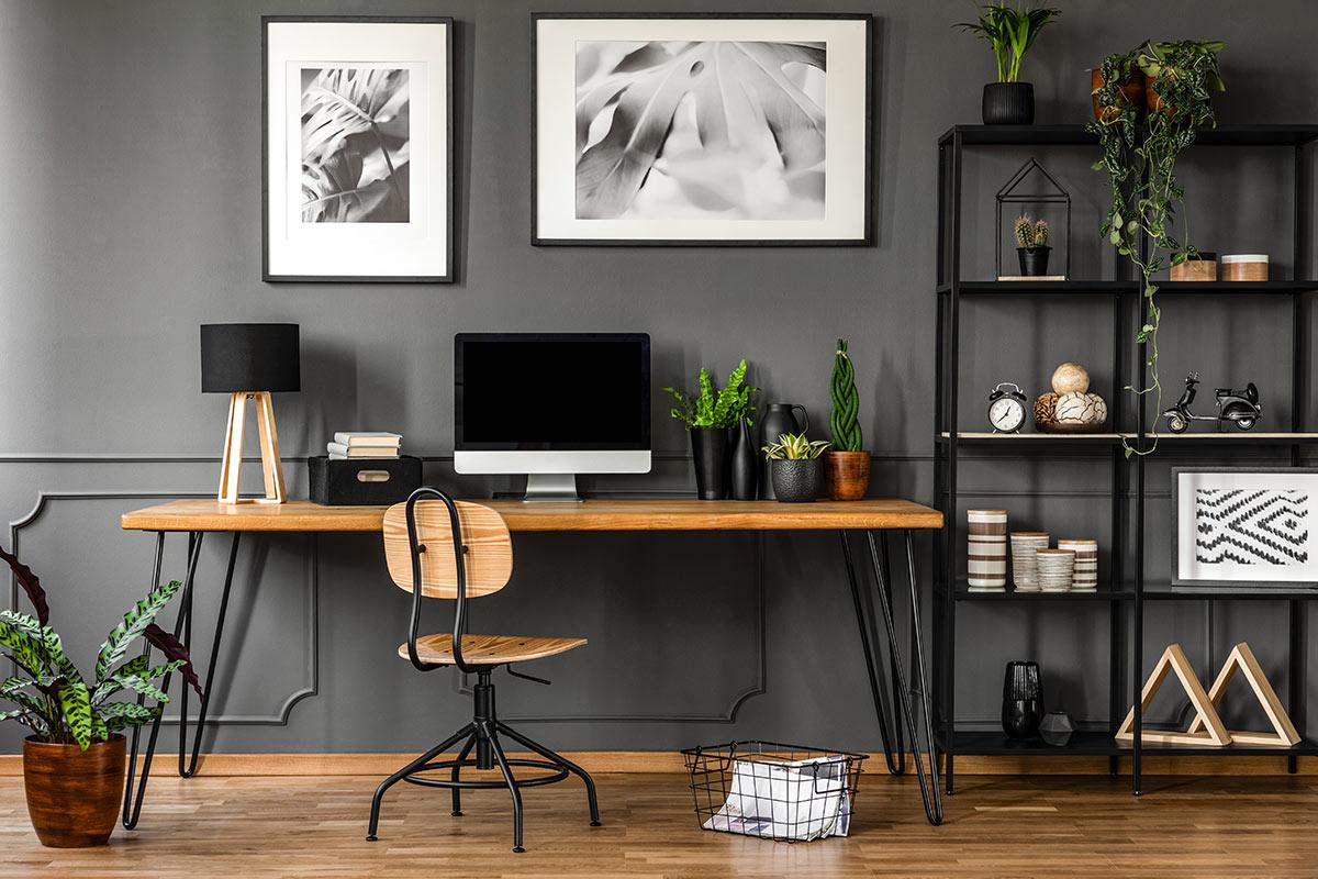 Arredamento moderno ufficio in casa.