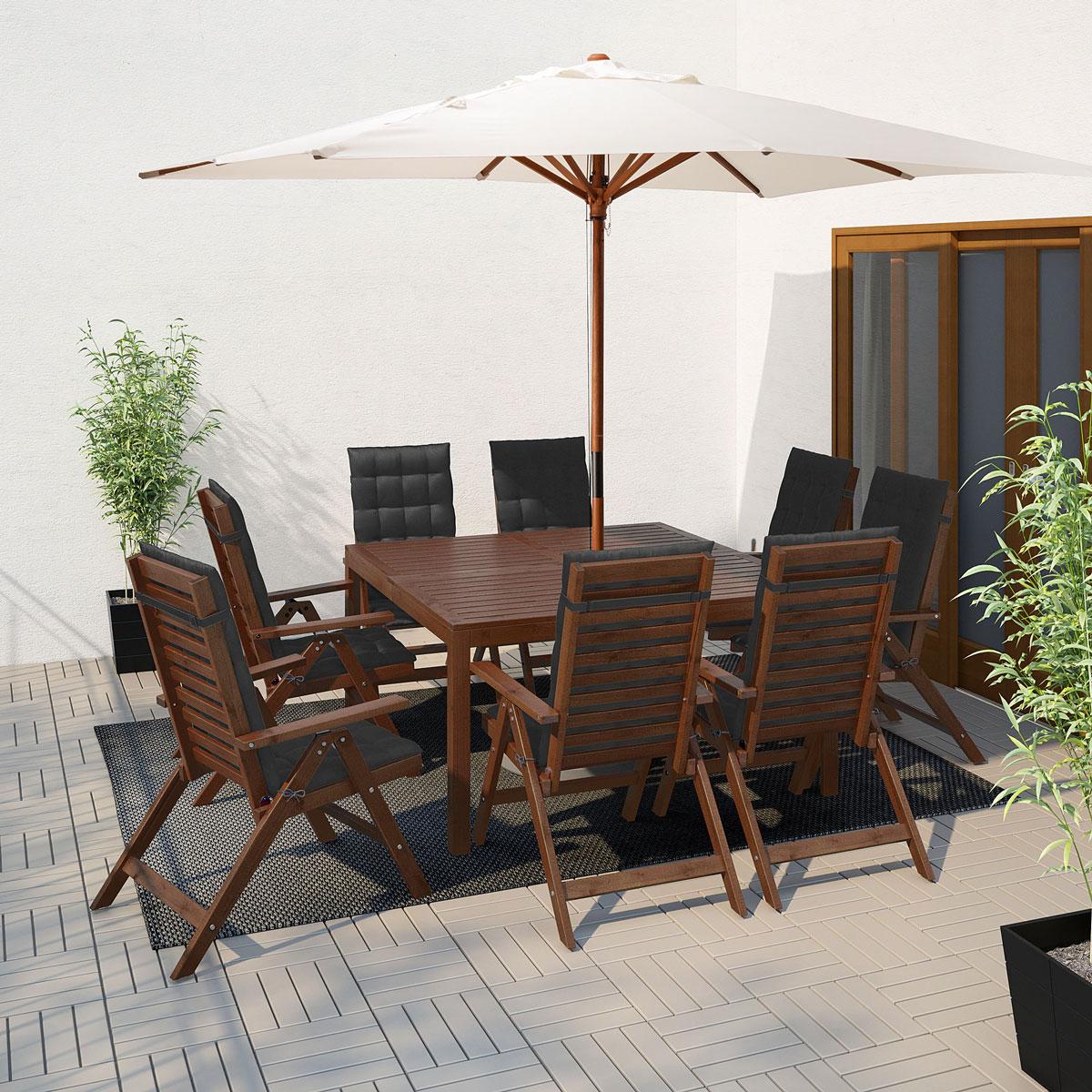 Arredo giardino ikea 2020, tavolo con sedie ÄPPLARÖ.