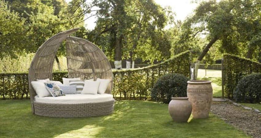 Divano comodo tondo per il giardino Maisons du monde.