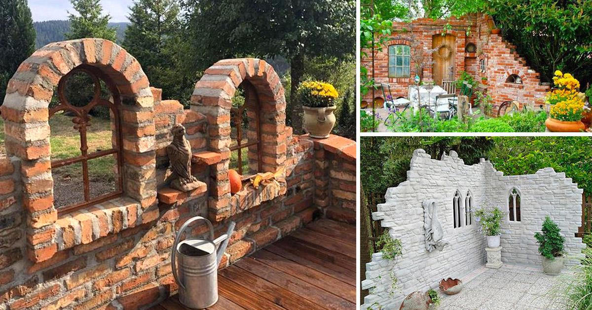 Piccoli ruderi per un giardino rustico