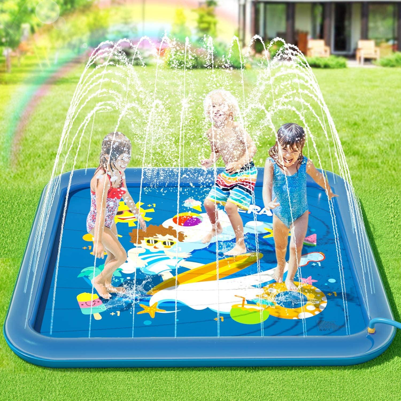 Tappeto per bambini con giochi d'acqua.