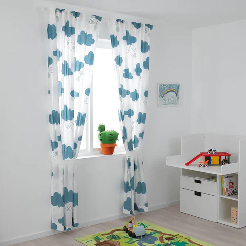 Tende IKEA modello DJUNGELSKOG ideale per la cameretta dei bambini.