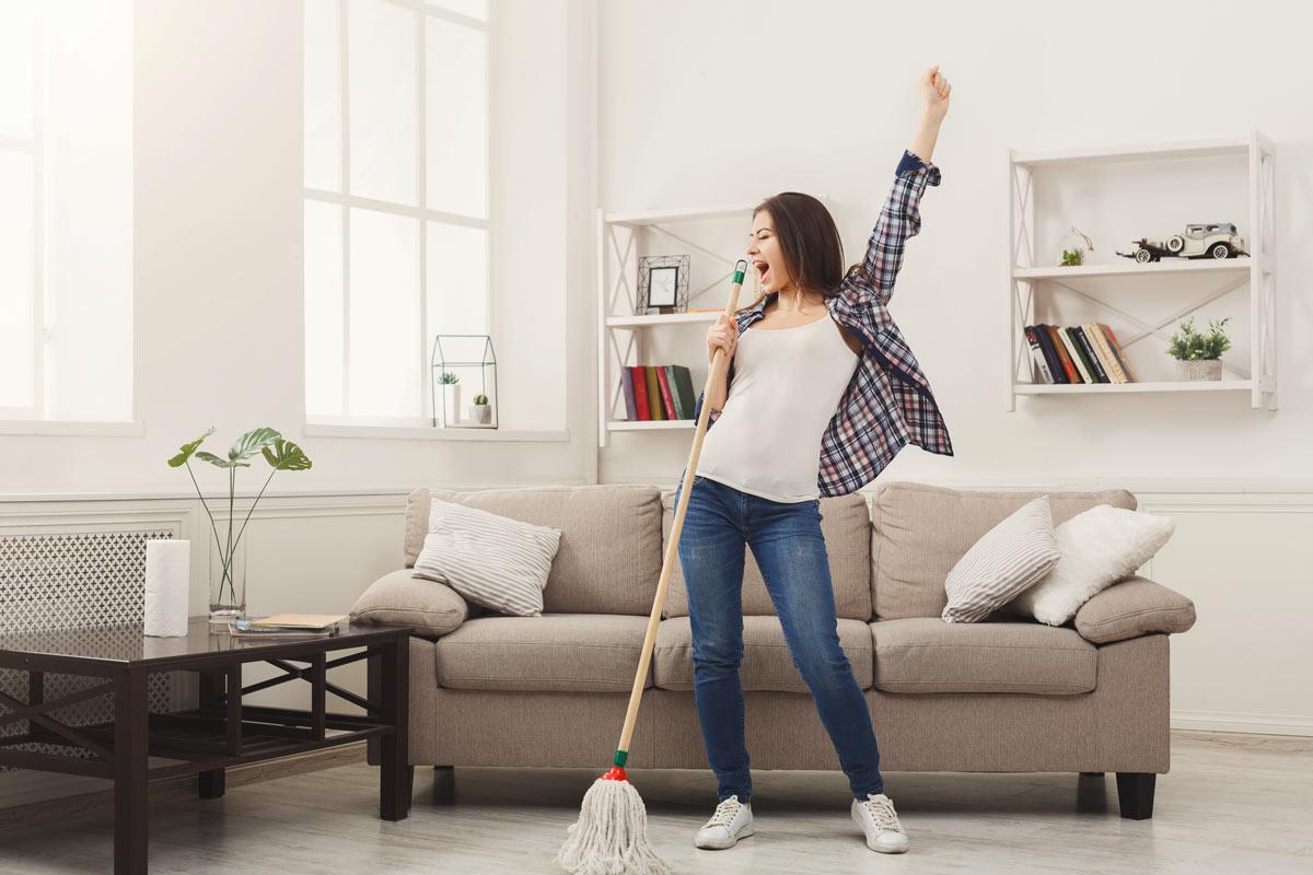 Guida per pulire casa.