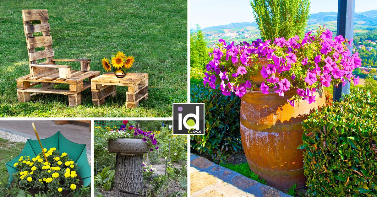 Decorare il giardino con oggetti di recupero