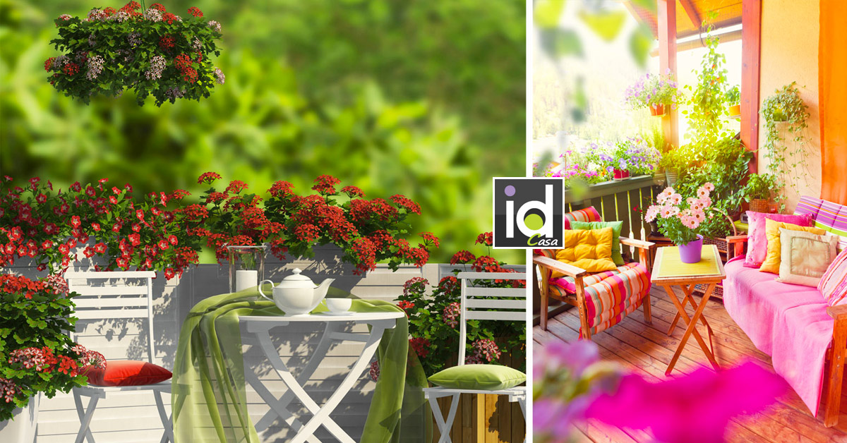 idee per un balcone pieno di fiori