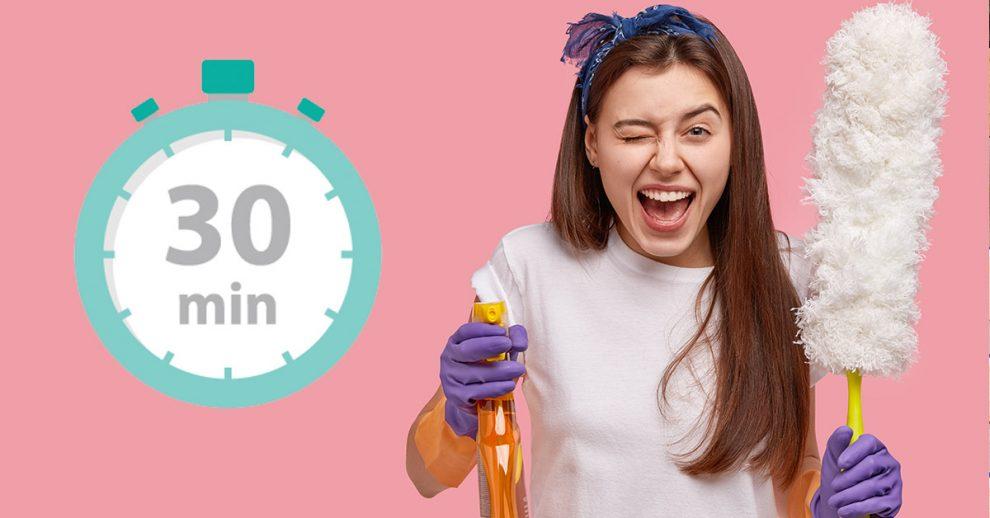 Come pulire casa in poco tempo