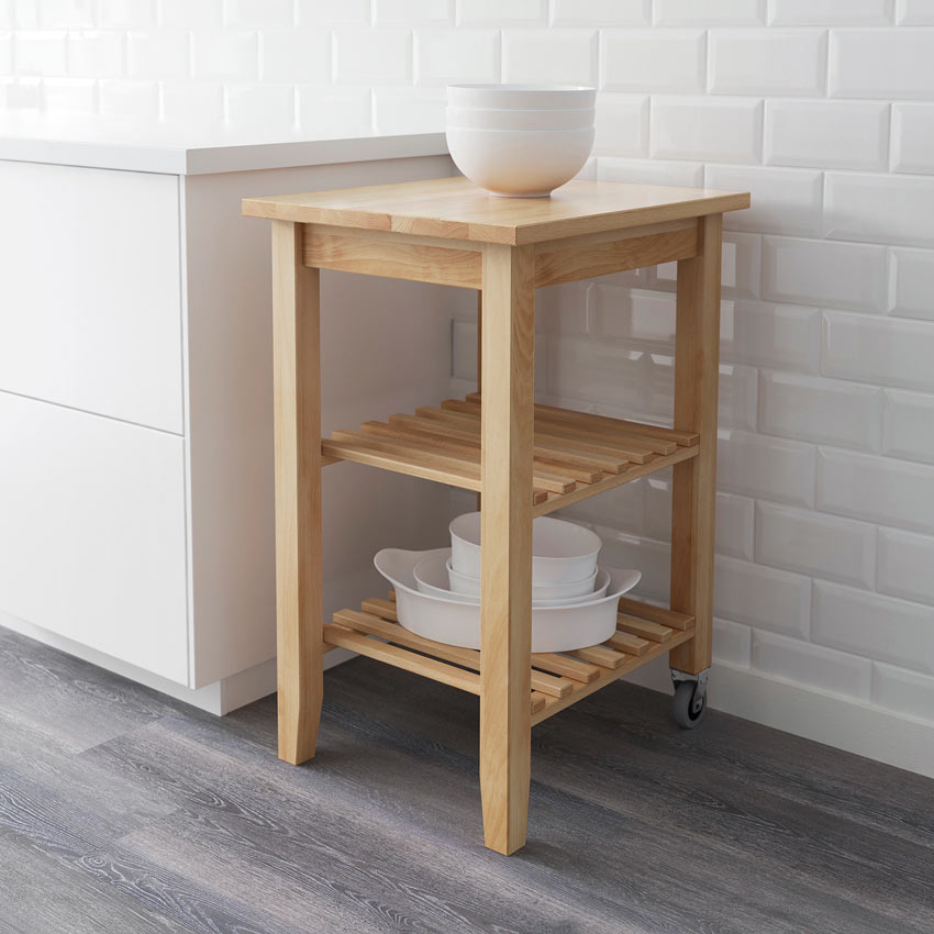 Carrello cucina IKEA in legno modello BEKVÄM.