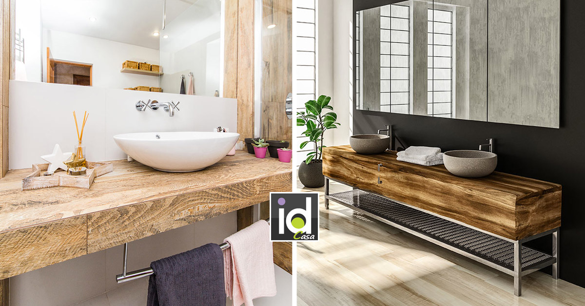 Mobili in legno per il bagno: 15 idee per ispirarsi