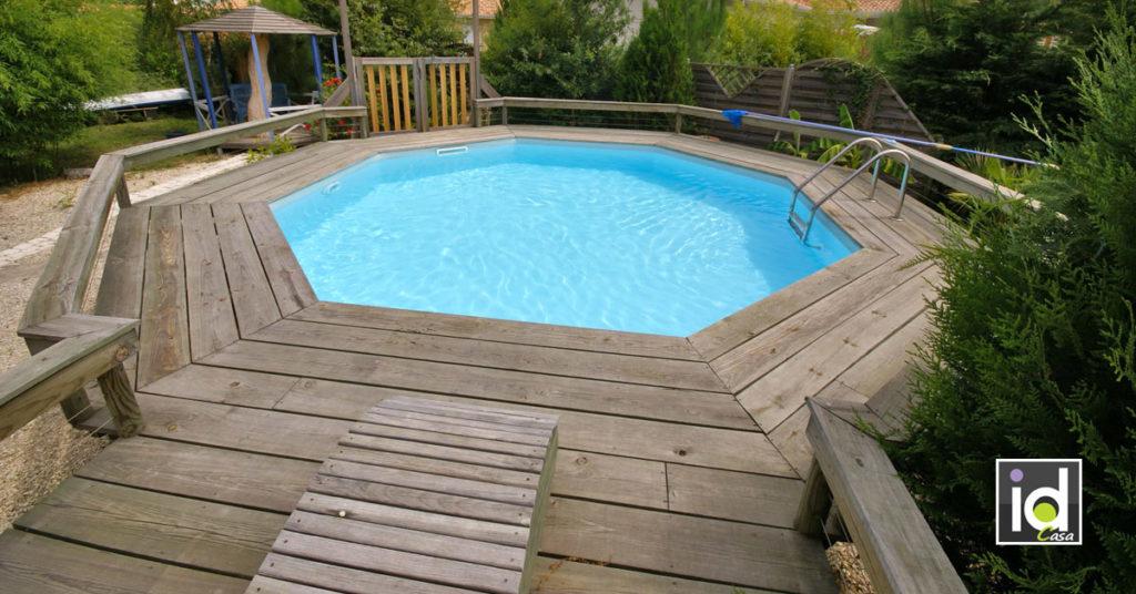 installare una piscina con soppalco.