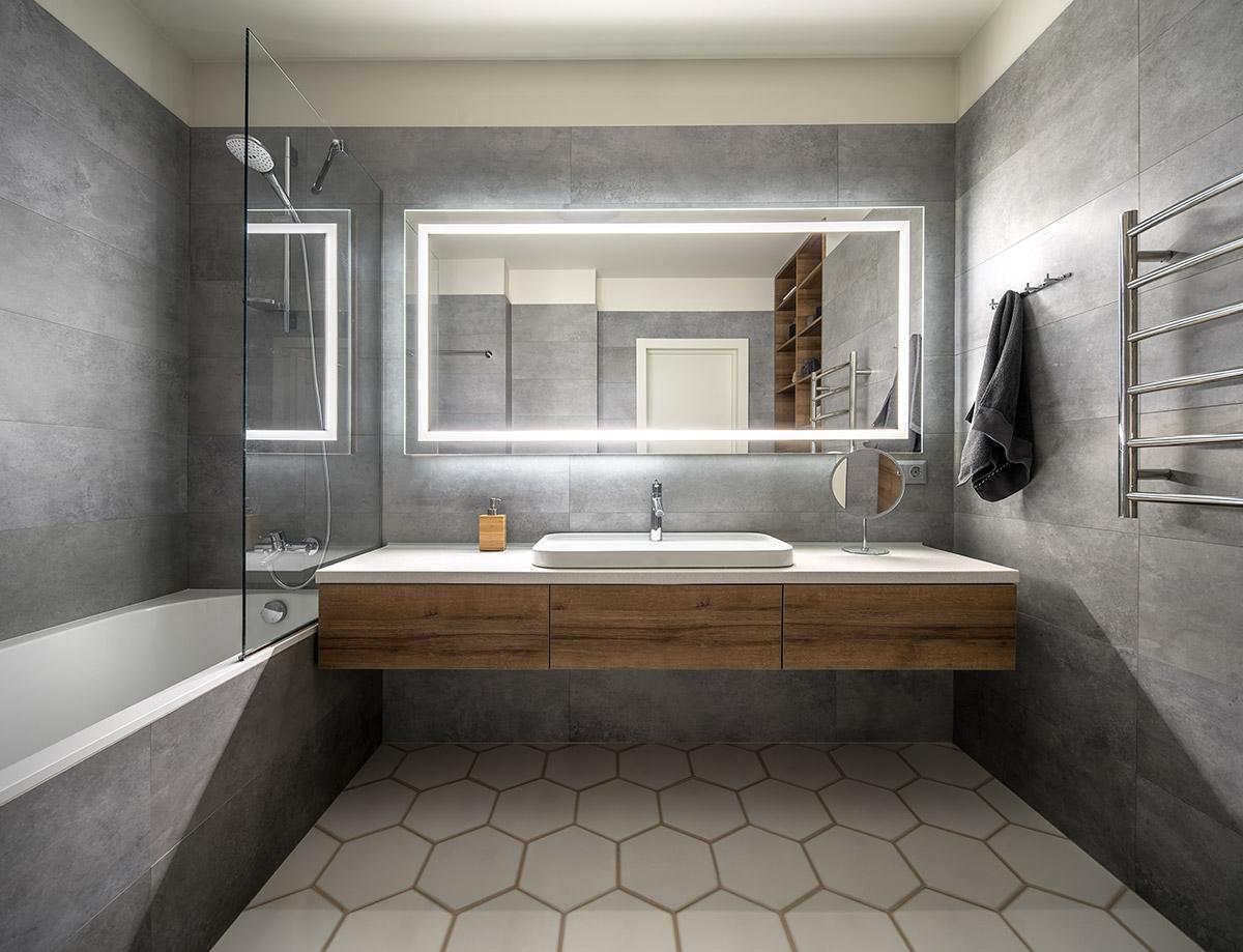 specchio bagno moderno.