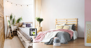 Belle testate letto con pallet