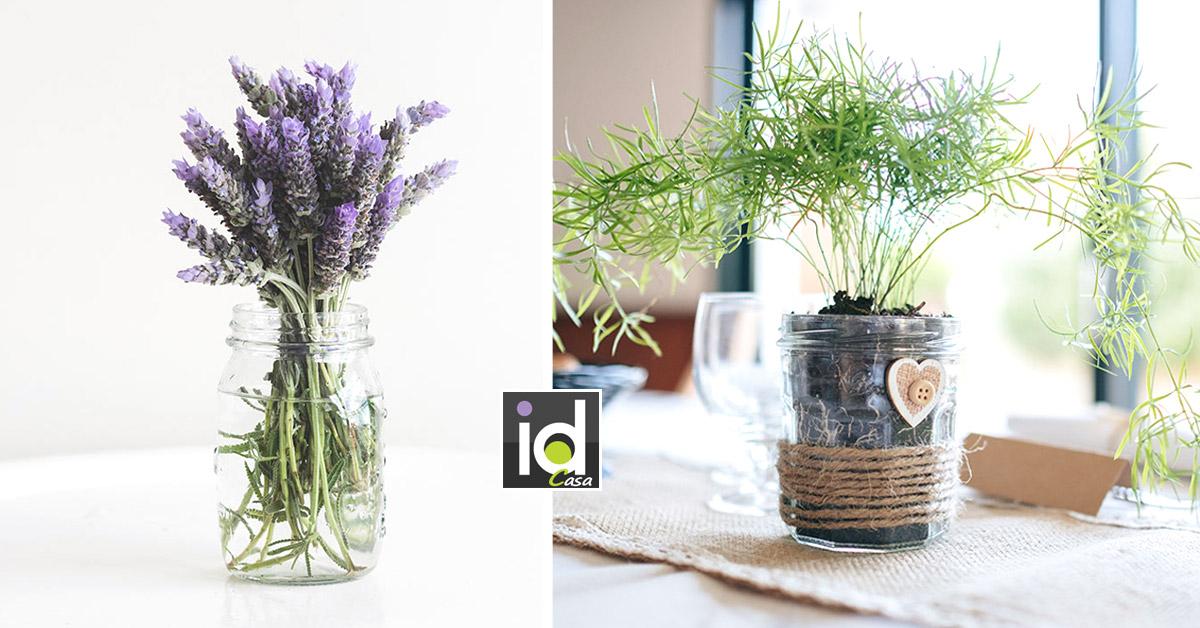 Realizzare un bel vaso primaverile riciclando contenitori di vetro